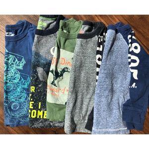 Boys 18 Month Long Sleeve Shirt Lot (5)